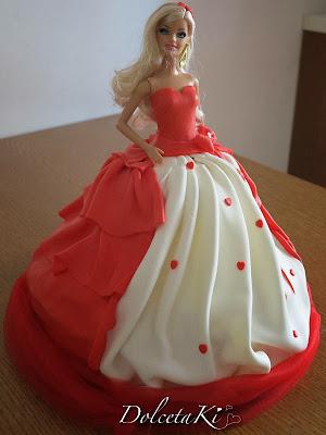 torta vestito rosso