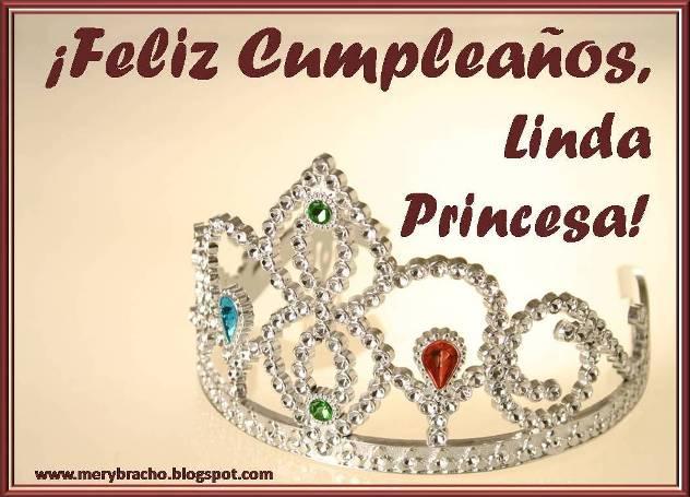 Postal Feliz Cumpleaños Princesa Bella, mi princesita, para mi nena, mi hija. Felicitaciones a niña, mujer, novia. Princesita de la casa. Tarjetas lindas, postales, imágenes para felicitar princesa.