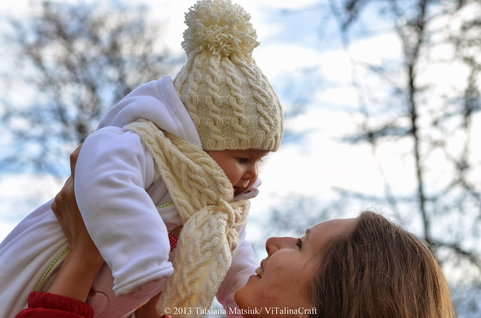 My First Winter Baby Hat and Scarf Knitting Pattern | ViTalina Craft