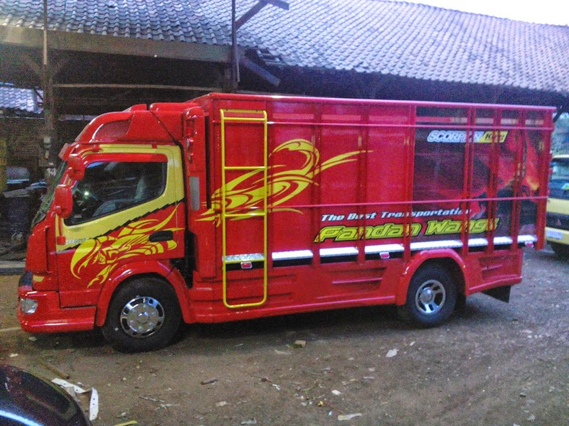 modifikasi bak truk canter