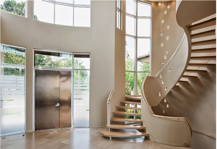 Luxury classic stairs designs and interior stair railing for Round staircase designs interior
