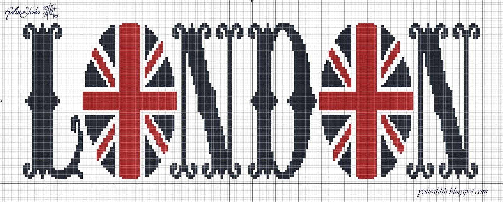 Англия в схемах для вышивки 792