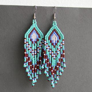 native american earrings beadwork beading beadweaving jewelry