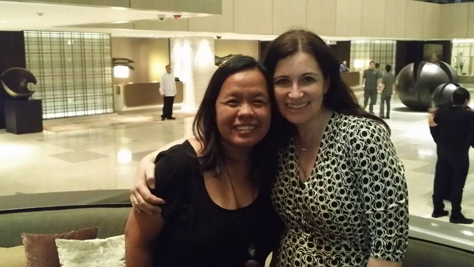 Me and Sharon on our last night in Manila - a beautiful time