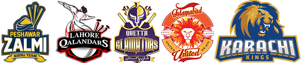 Pakistan Super Luague (PSL) 2016 Teams.