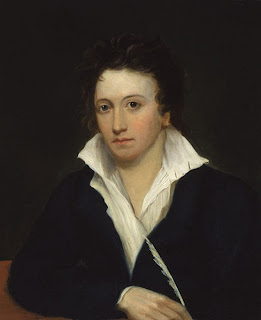 Portrait of Percy Bysshe Shelley by Alfred Clint, 1819