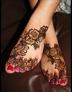 The Best Flower Mehndi Designs For Hands foot