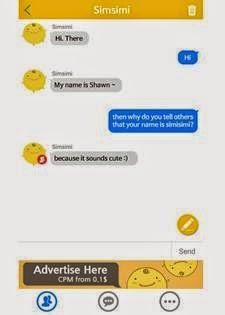 Aplikasi keren android SimSimi