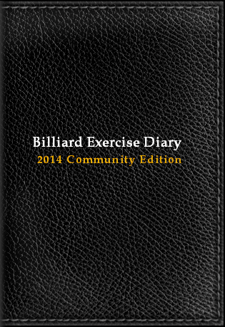 Billiard Exercise Diary 2014, Community Edition, Black, Billiard Practice Software