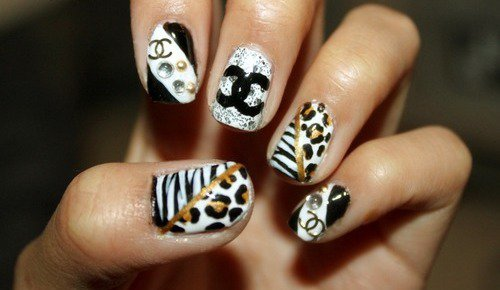 The Cool Cute cheetah print nails Photo