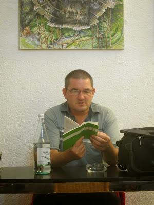 Bruno Schlatter in der MiniGalerie Luzern (Foto: Christian Balke)