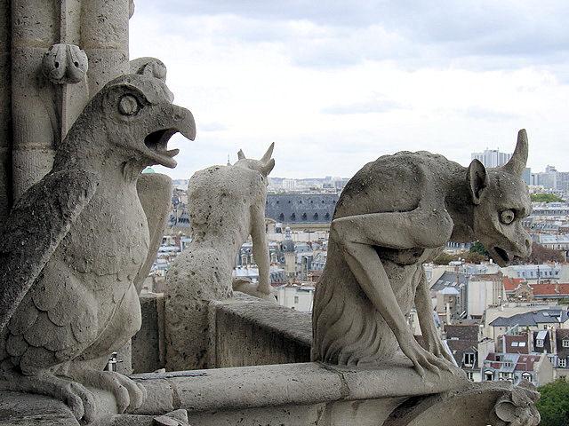 Notre Dame Cathedral Gargoyles Gargoyle Garden Statue...