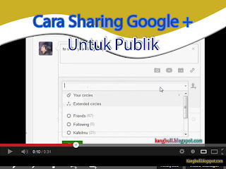 cara sharing post google plus publik