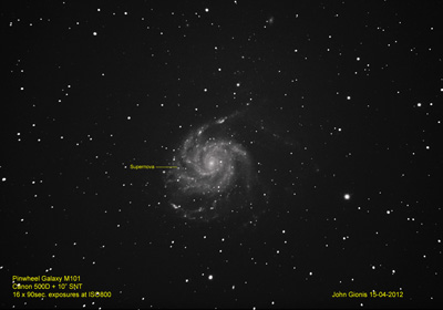 The Pinwheel Galaxy - M101.  April 15, 2012