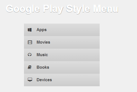 Google Play free style menu – Dissecting the Web