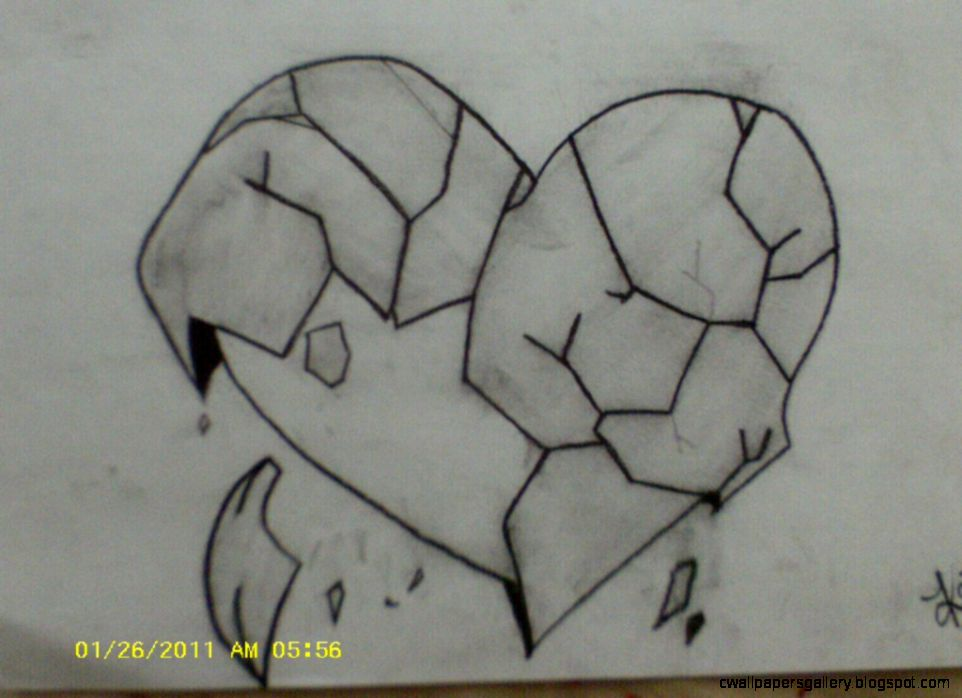 Pencil Sketch Of Broken Hearts Pencil Drawings Of Broken  true