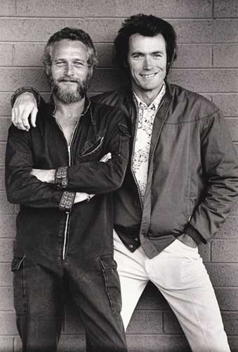 Paul Newman y Clint Eastwood