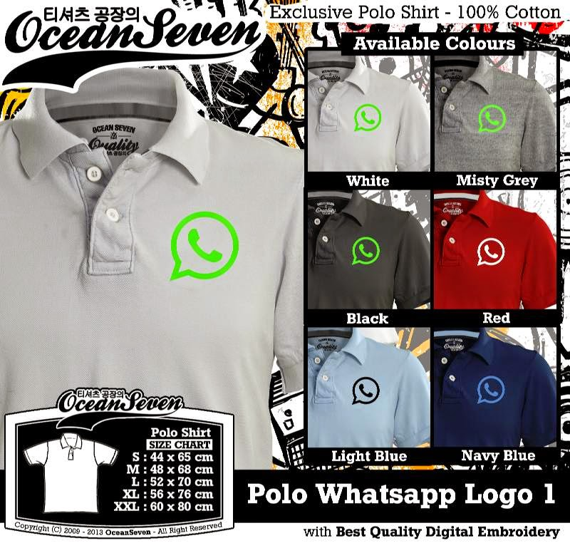 Kaos Polo Whatsapp Logo 1
