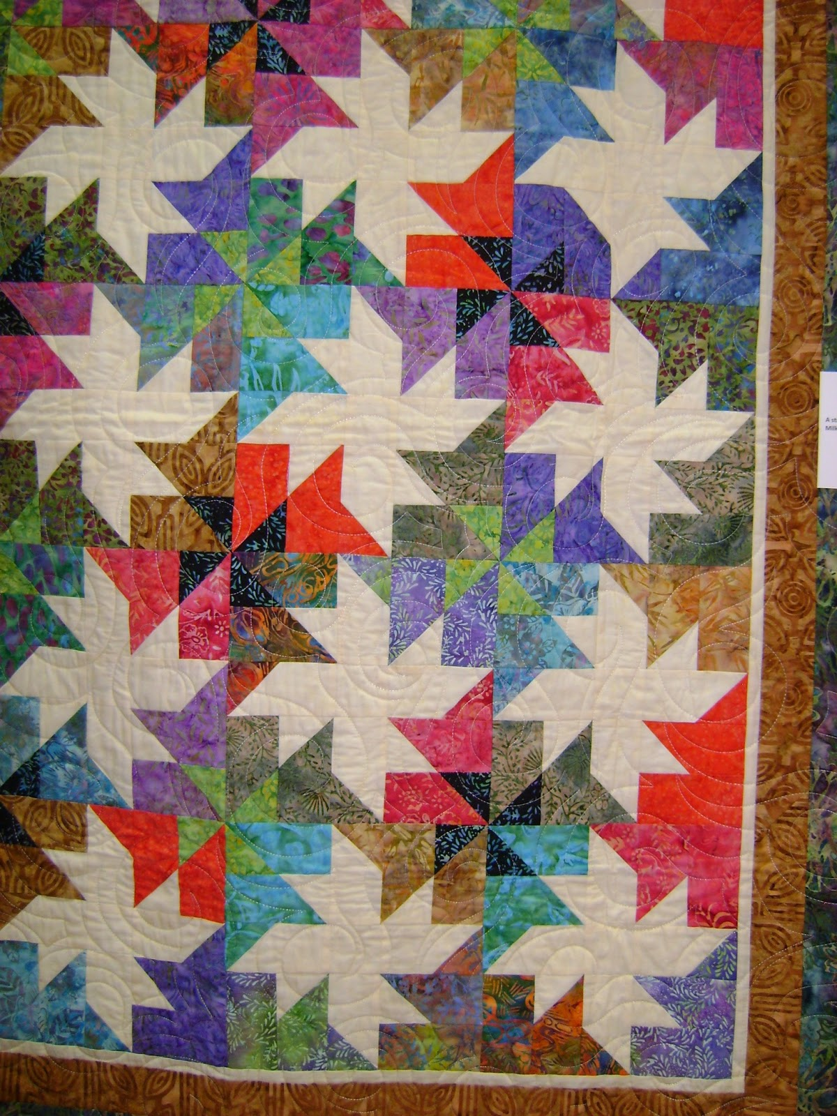 life, quilts and a cat too: BHM Quiltfest 2015, part 1 : milky way quilt - Adamdwight.com