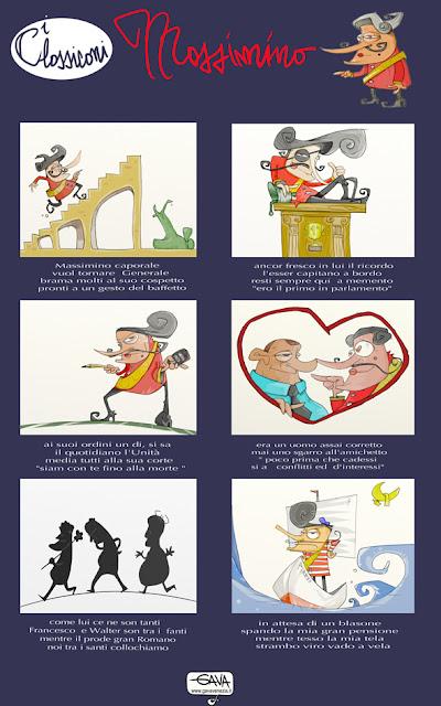 Massimo D'Alema Gava satira vignette