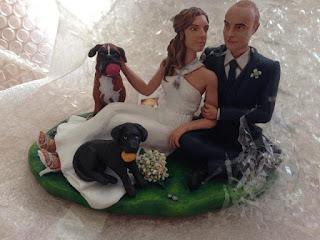 sposini cake topper con cani cuccioli boxer torta matrimonio milano