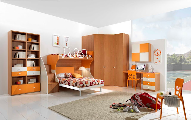 Id e d co chambre ado fille moderne for Chambre ado noir et orange