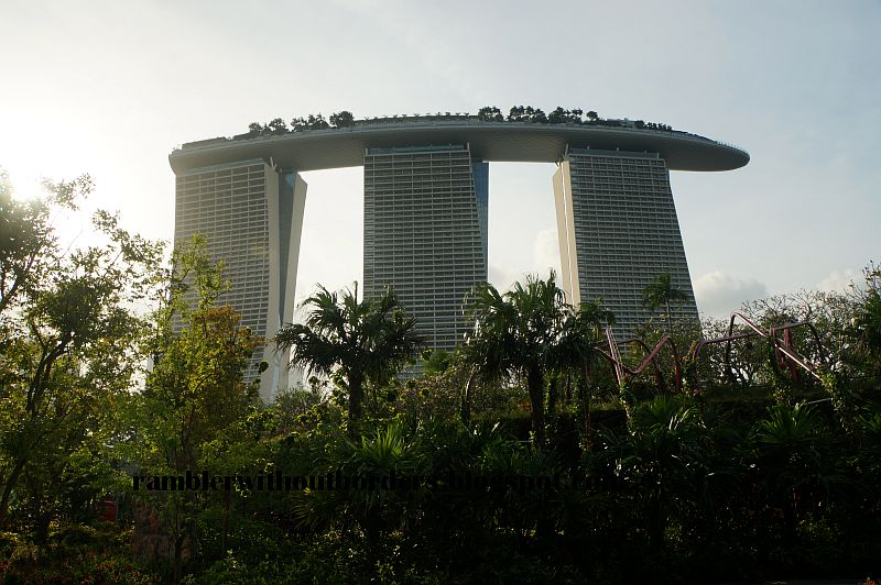 Marina Bay Sands as viewed from Gardens by the Bay