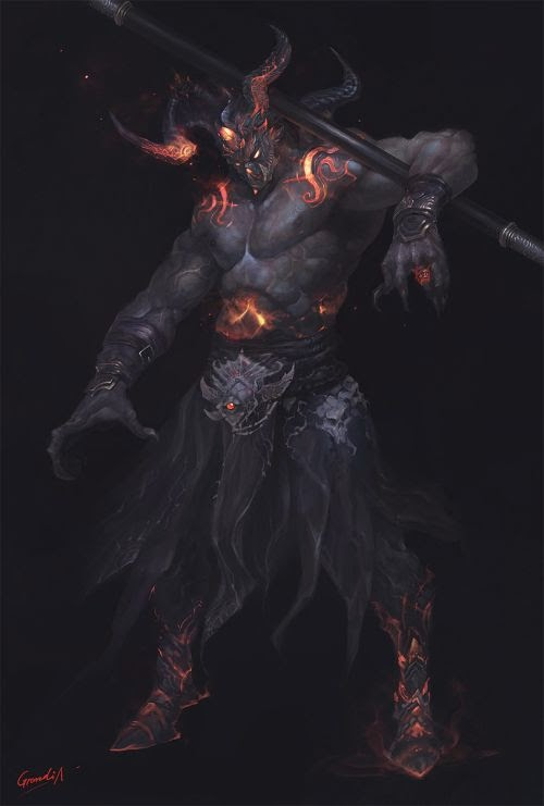 Shengyuan Lee grandialee illustrations fantasy anime Belial demon