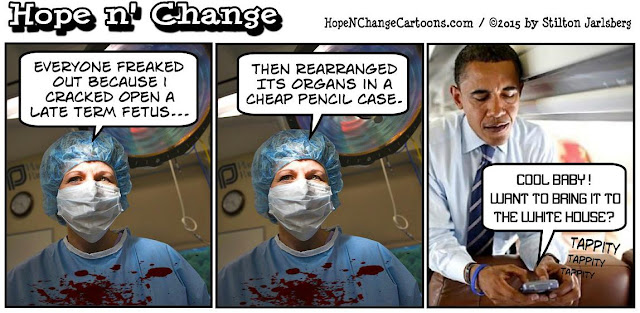 obama, obama jokes, political, humor, cartoon, conservative, hope n' change, hope and change, stilton jarlsberg, ahmed, clock, bomb, planned parenthood, abortion, late term
