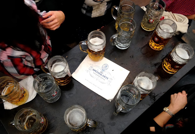 Beers in Schottenhamel, Oktoberfest Munich 2013