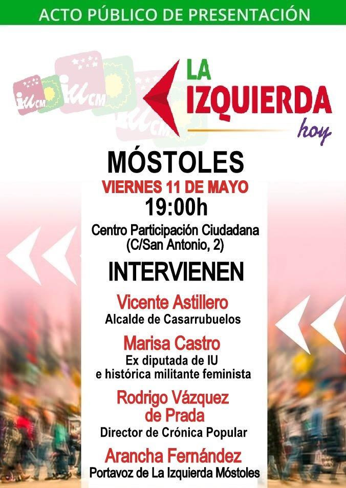 11 mayo La Izquierda Hoy en Mostoles