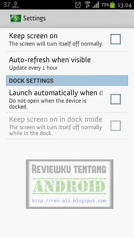 Pengaturan aplikasi Adsense Dashboard  - aplikasi untuk melihat pendapatan adsense di android