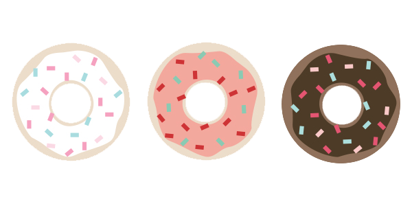 donut illustration, national donut day, donuts with sprinkles, mai paper shop