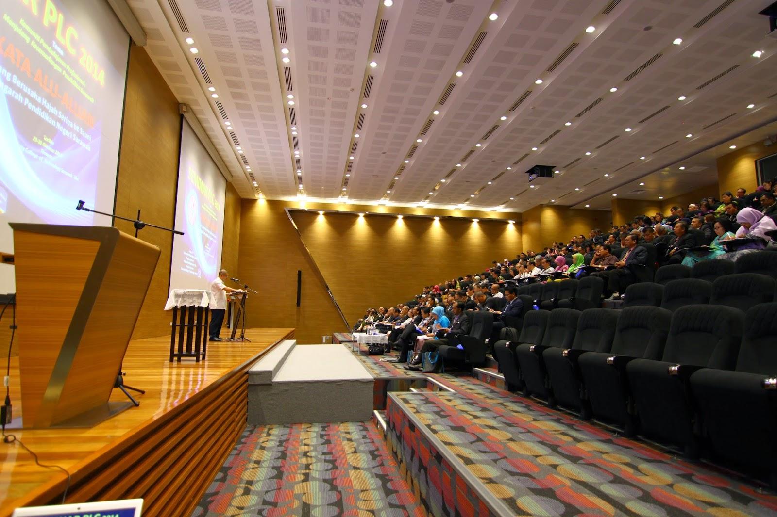 Seminar PLC 2 hari ini dilangsungkan di Theatre Room C