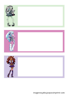 monster high characters for printing