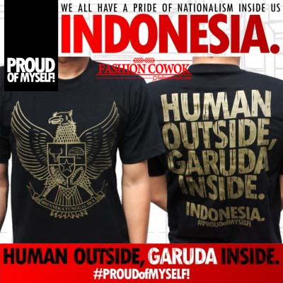 T-Shirts - HUMAN OUTSIDE, GARUDA INSIDE