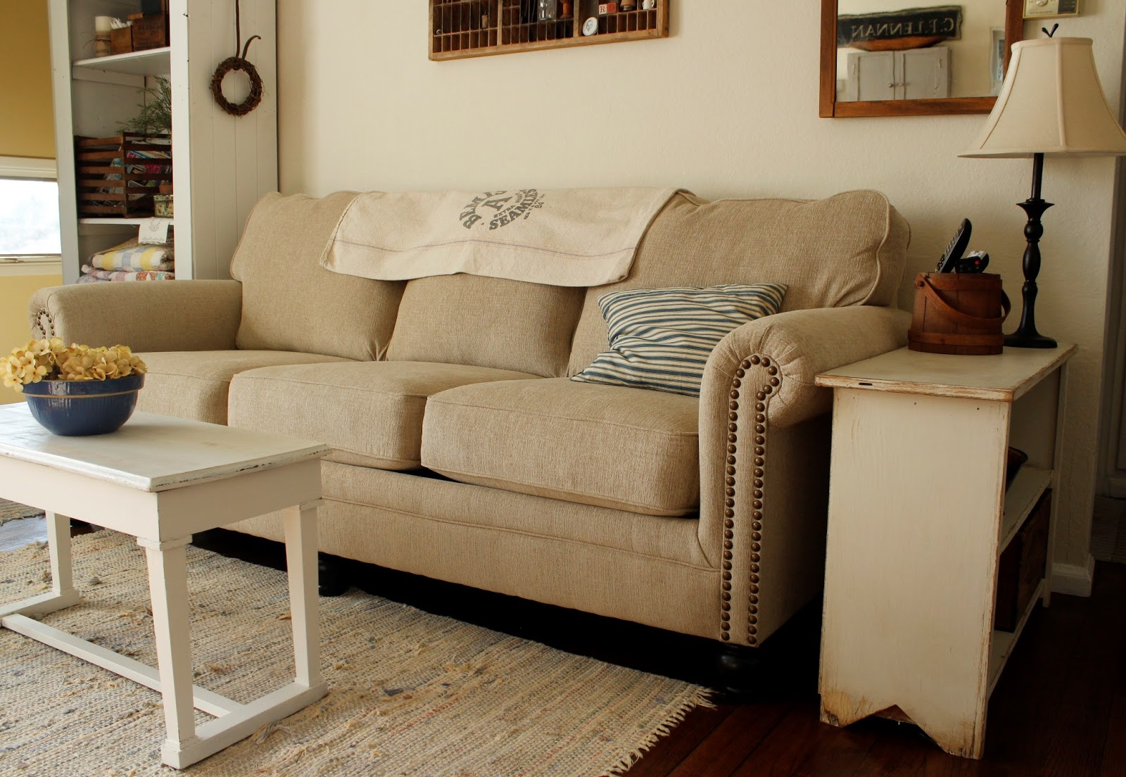 I Searched For An Easy Care Upholstery That Looked Like Linen Since The Real Thing Is So Expensive Found One Just Love It