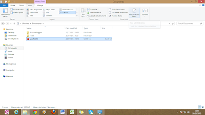 Menyembunyikan File di Windows 8