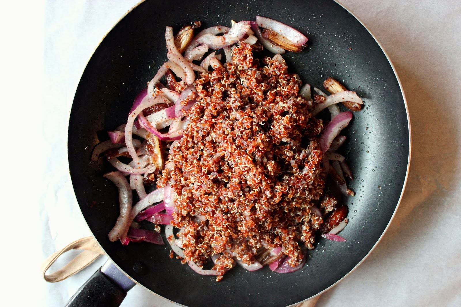 To Then Add Some Red Quinoa (cooked Separately) I've Never Been Crazy  About Quinoa, But In This Recipe It Picks Up A Lot Of Great Flavour