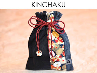 Kinchaku Beutel aus japanischen Stoffen von Noriko handmade, handgemacht, Einzelstück, Unikat, Design, Reisebeutel