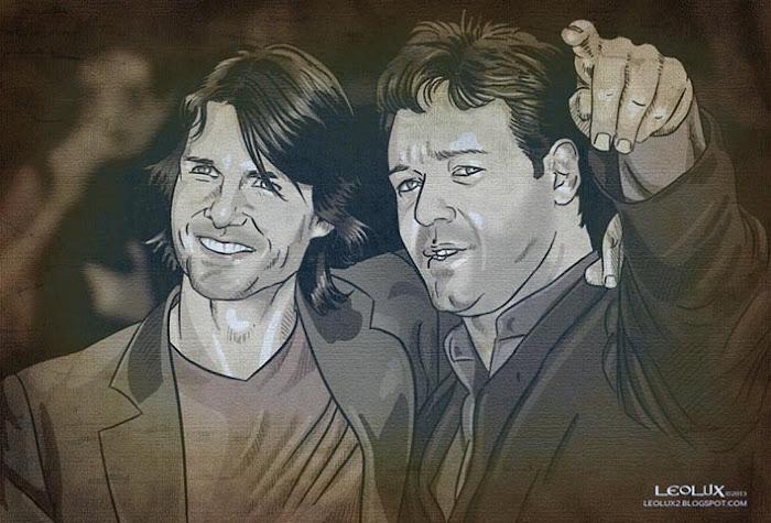 ©leolux. Dibujo e Ilustracion. Fotogramas   Photograms. Russel Crowe. Tom Cruise