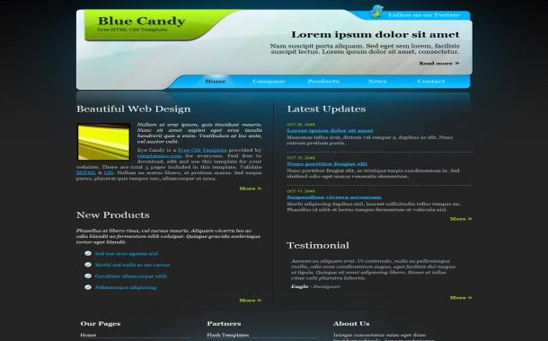 Free Black Green Blog Jquery CSS Website Template