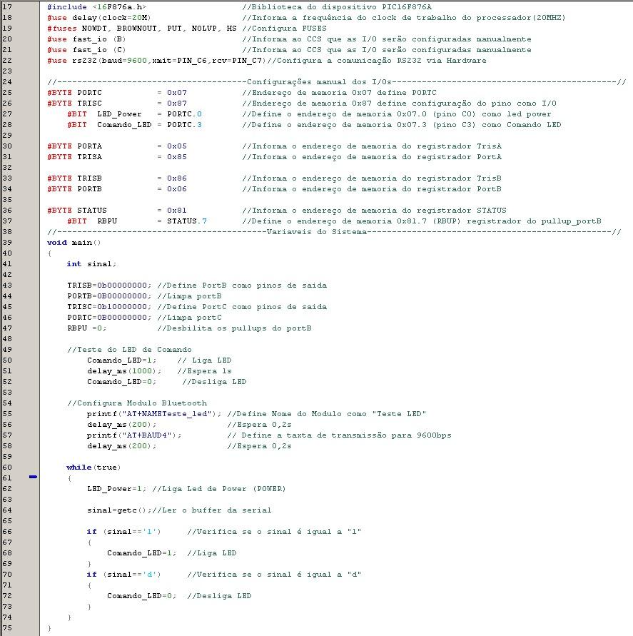 Biblioteca do Módulo Bluetooth HC-06 para o PIC