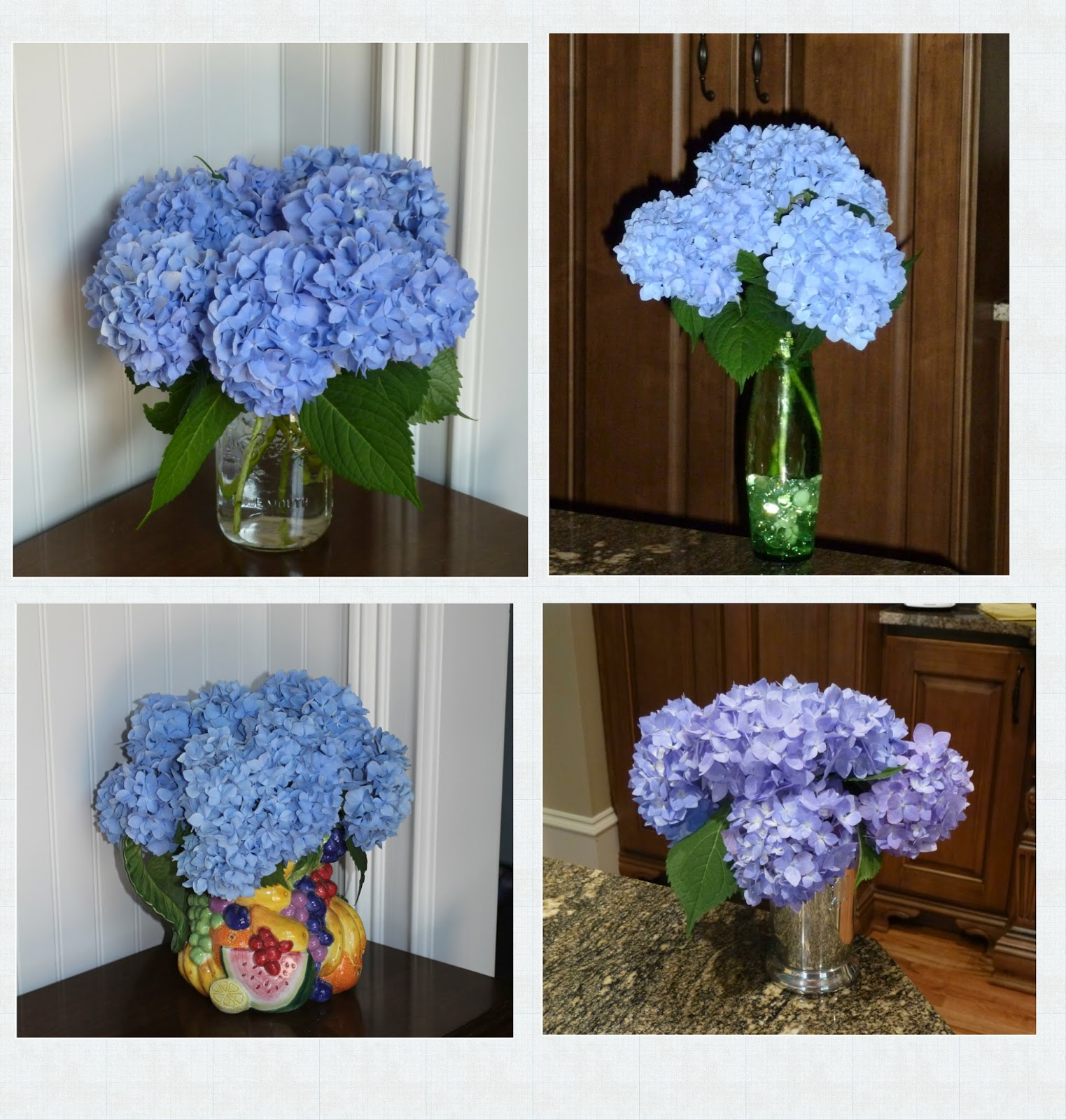 Hydrangea Arrangements: Cheryl's 2 Cents' Worth: Mini Flower Arrangements And