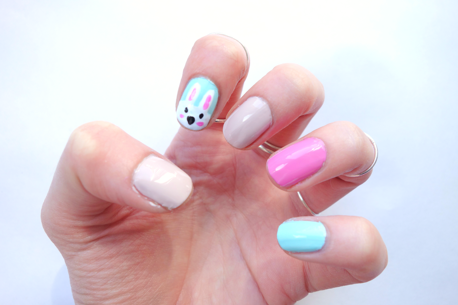 Just Paint Your Other Nails In The Colours You've Picked, Add A Top Bunny  Handprint Craft