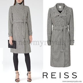 Kate Middleton wore Reiss Rubik houndstooth wrap coat