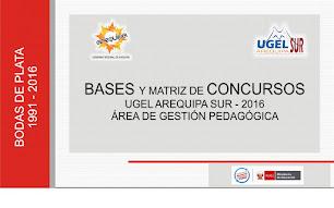 MATRIZ DE CONCURSOS UGEL SUR 2016