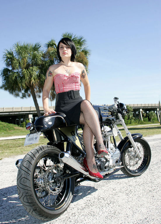 Cafe Racer Babes 008on Suzuki Cafe Racer Motorcycle