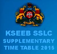 Karnataka SSLC Supplementary Time Table 2015 for June Exams, KSEEB 10th Supplementary Date Sheet 2015, KSEEB SSLC Supplementary Exam Time Table 2015, kseeb.kar.nic.in SSLC Supple Exam Time Table 2015 Download, Karnataka 10th Supplementary Exams start from 15 June 2015 to 22 June 2015