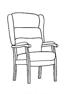 Chair Outline Line Drawing Painting Kindergarten Worksheet Guide